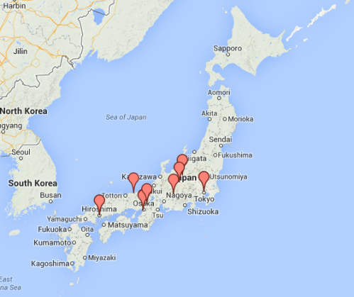 Click this image to go to the custom Google Map of my Japan trip...
